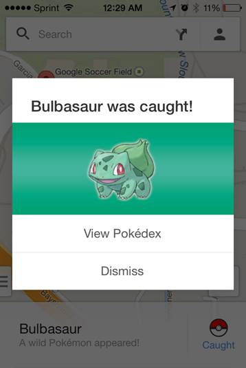 Google Maps Bulbasaur
